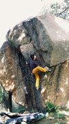 Rock Climbing Photo: Trying the arete
