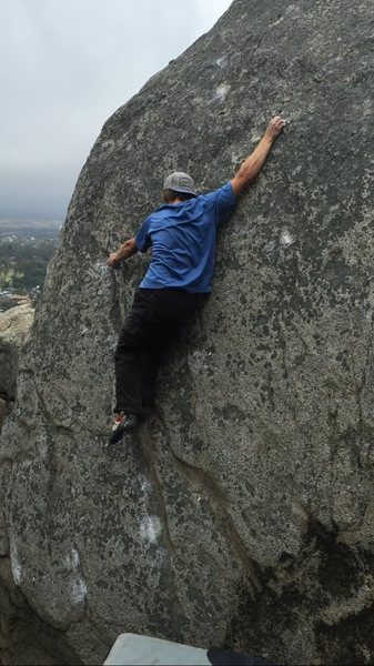 Rock Climbing Photo: Jed on 'I for an Eye' V4/5