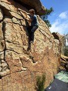 Rock Climbing Photo: Jed on 'Earthshine'
