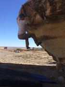 Rock Climbing Photo: start mantling...