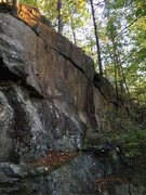 Rock Climbing Photo: Part of the quarry cliff