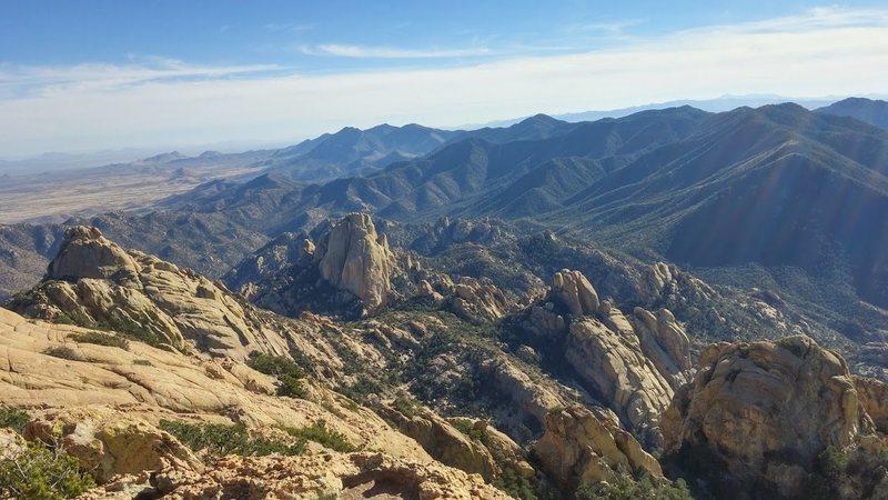 Rock Climbing Photo: top of cochise