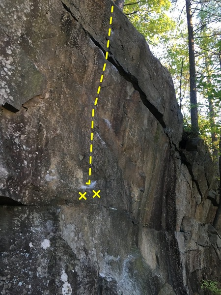 Rock Climbing Photo: Half On