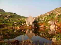 Rock Climbing Photo: Boulders down by the valley at EKK  Photo by Poona...