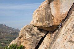 Rock Climbing Photo: Leading India Onsight (5.6, FA: Paul Zeltner, Oct ...