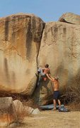 Rock Climbing Photo: Second ascent of Thumbs Up (6B+, V4, FA Nick Russe...