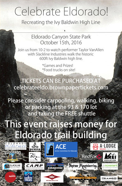 Rock Climbing Photo: Celebrate Eldo flyer.