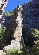 Rock Climbing Photo: Lucas on the FFA
