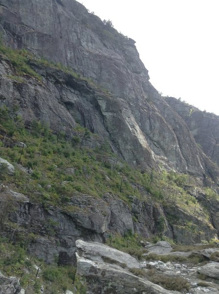 Rock Climbing Photo: Seldom seen view of the prow from the spinx
