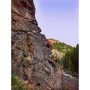 Rock Climbing Photo: Red Cliff CO and the moon