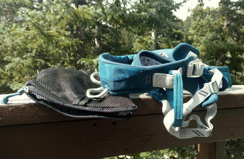Rock Climbing Photo: Harness and bag