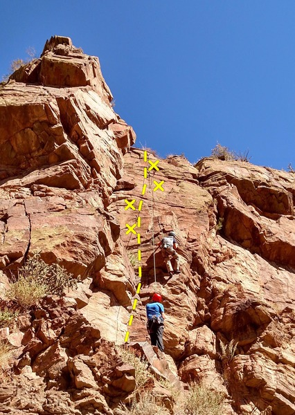Rock Climbing Photo: The spot where climber is you can make this climb ...