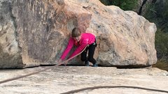 Rock Climbing Photo: 9 year-old daughter following a 5.7 multi-pitch