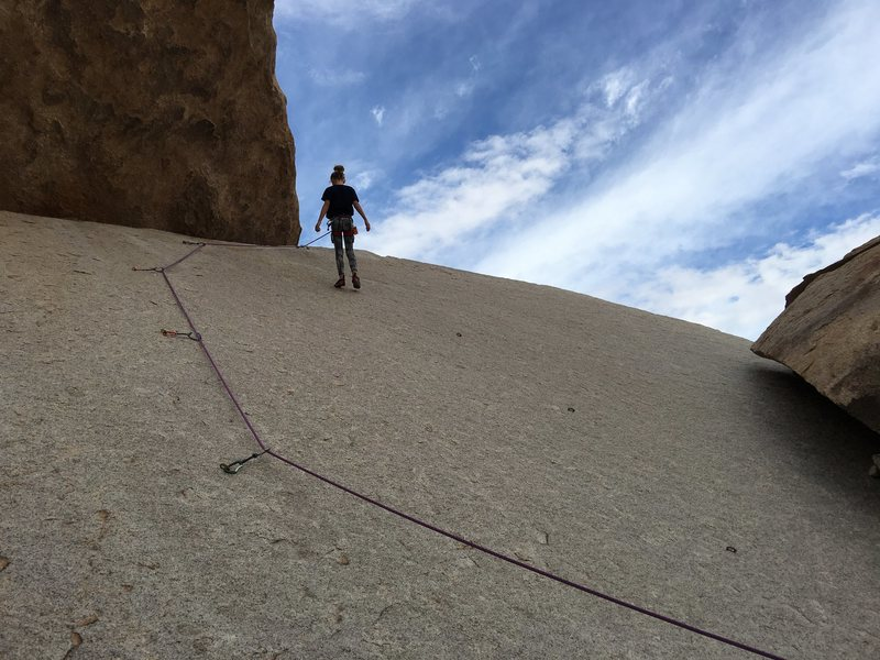 7 year-old daughter getting her first lead in Joshua Tree