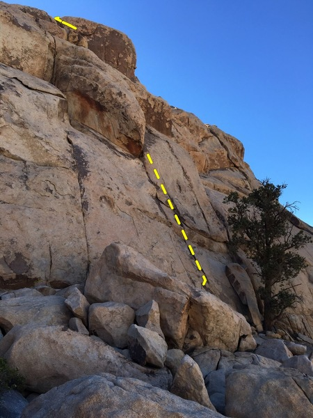 Rock Climbing Photo: The route passes alongside the dihedral, and is hi...