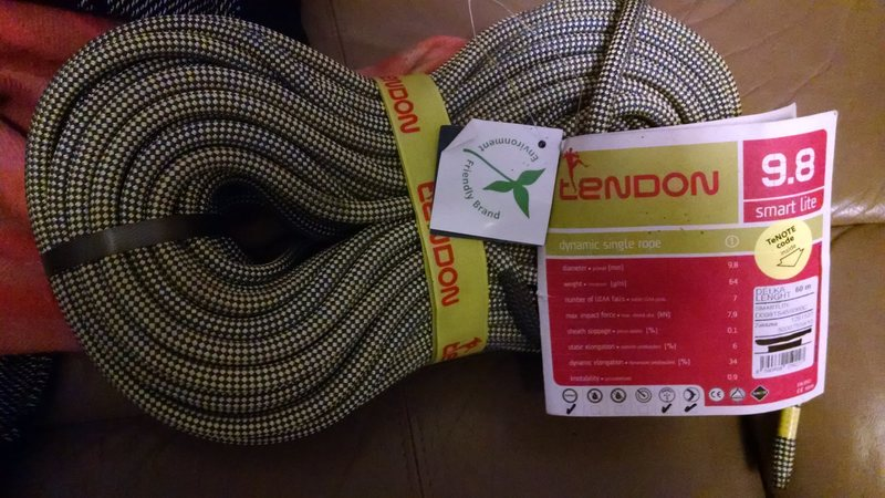 Tendon 60m 9.8 dry treated dynamic rope