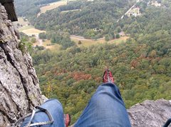 Rock Climbing Photo: Comfy first belay station. Enjoy it, the next is j...