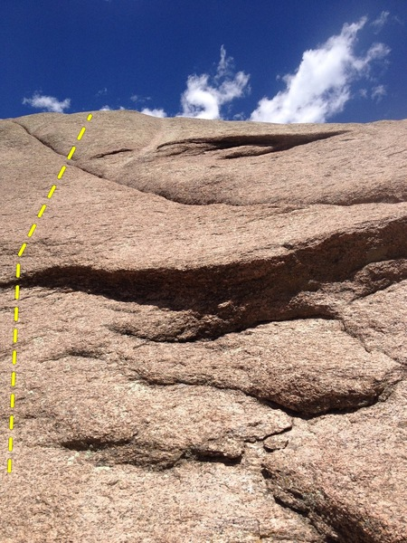 Rock Climbing Photo: It's lower angle than it looks.