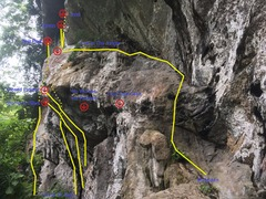 Rock Climbing Photo: Multipitch and lower roof section