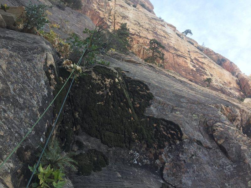 Rock Climbing Photo: The Slab pitch, pretty fun, gear kind of spaced. B...
