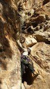 Rock Climbing Photo: Headed up P14 the Kracken Chimney!! Stop short, be...