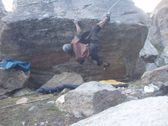 Rock Climbing Photo: Baby diamond traverse V9 *** Diamond area Chattru