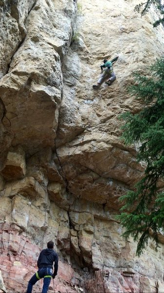 Rock Climbing Photo: Highlight of my trip..'Ripsnorter' 12a