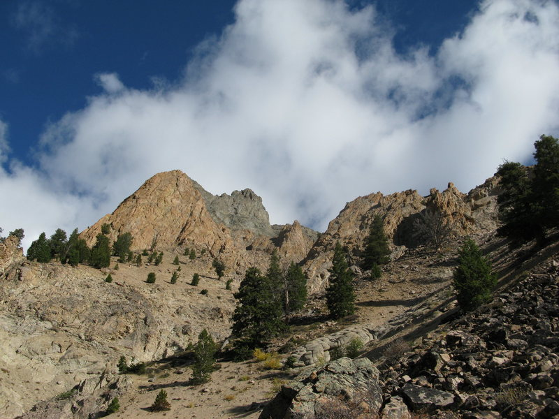 Rock Climbing Photo: The billy goat buttress as seen from the start of ...