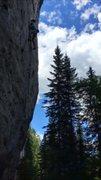 Rock Climbing Photo: On the send of 'Black Sunday' 12a