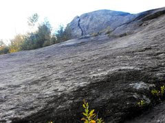 "Rock Climbing Photo: The ""runout pitch"" ... rock is a little ..."