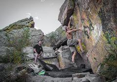 Rock Climbing Photo: Random climber trying for the send before graffiti...