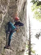 Rock Climbing Photo: danna ray following jug route