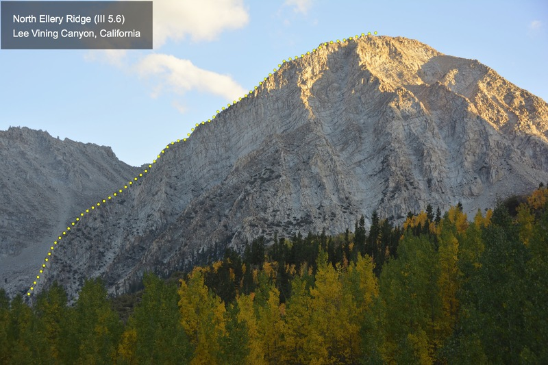 Rock Climbing Photo: Profile of the North Ellery Area, taken from the W...