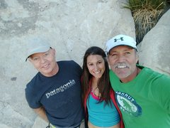 Rock Climbing Photo: Bob Gaines, Rebecca Roscher, Todd Gordon.  FA team