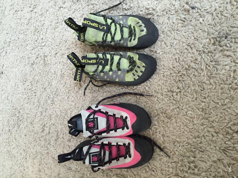 Rock Climbing Photo: Women's climbing shoes
