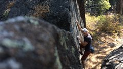 Rock Climbing Photo: Really sick slab climb. Took me a few tries to fin...