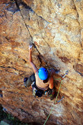 Rock Climbing Photo: Stefani snagging an early ascent of Community Serv...