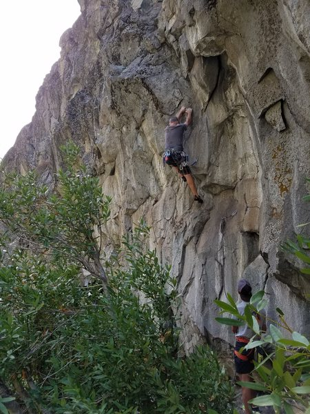Rock Climbing Photo: Finally getting the FA. Pic: Craig Thornley.
