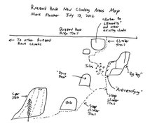 Rock Climbing Photo: Map to Buzzard Rock New Climbing Areas (Aretefying...