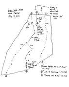 topo for Super Slab Area (Adam Kopley Memorial Route, Like a Hurricane, Cortez the Killer).
