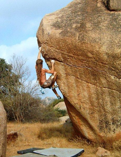 Rock Climbing Photo: Squib from Isleof man is on Coffee Shakes V7