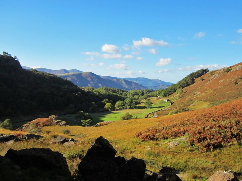 View from Reecastle crag Borrowdale.