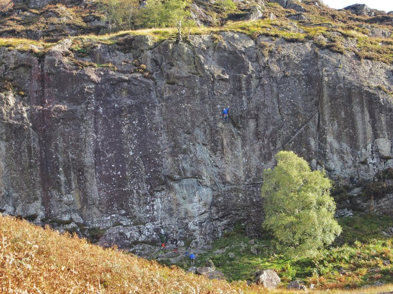 Rock Climbing Photo: Climber on  Guillotine 5.10c