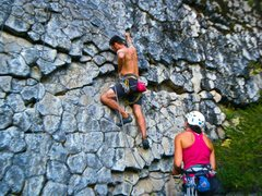 Rock Climbing Photo: Some else started bolting this.  I finished it in ...