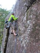 Rock Climbing Photo: Andy Ross Starting Raindrop