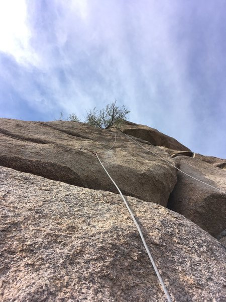 Rock Climbing Photo: SO Hard! Notice only 2 of the 4 bolts are clipped,...