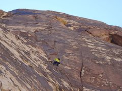 Rock Climbing Photo: The spectacular third pitch.