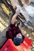 Rock Climbing Photo: Haj cranking through strawberry contraceptives