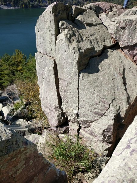 Rock Climbing Photo: Fat Crack from above