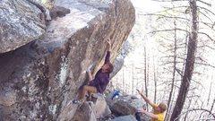 Rock Climbing Photo: The last move!